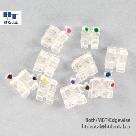 MISO Clear Sapphire Ceramic Orthodontic Brackets 20pcs/Kit