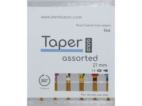 Taper Gold Root Canal Endodontic File Assorted (6ea.)