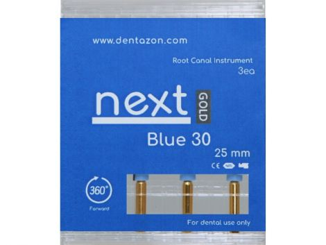 Next Gold Blue 30 Root Canal Endodontic File (3ea.)